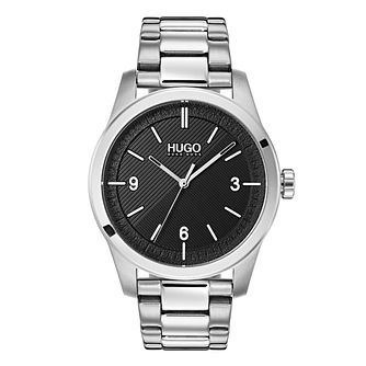 Hugo Black Dial Silver Bracelet Watch - Product number 9647589