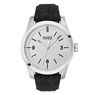 Hugo Grey Dial Grey Fabric Strap Watch - Product number 9647651