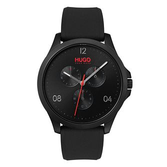 HUGO Black Dial Black Silicone Strap Watch - Product number 9647732