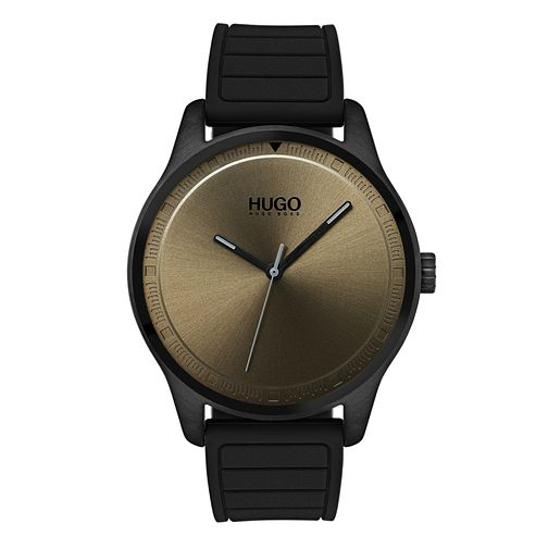 Hugo Black Silicone Green Dial Bracelet Watch - Product number 9647856