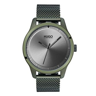 Hugo Green IP Grey Dial Bracelet Watch - Product number 9647872