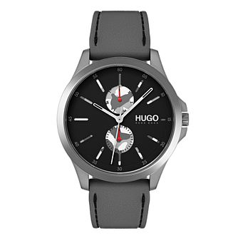 Hugo Black Dial Grey Silicone Strap Watch - Product number 9647880