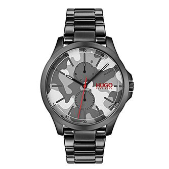 Hugo Unisex Camouflage Black IP Bracelet Watch - Product number 9647899
