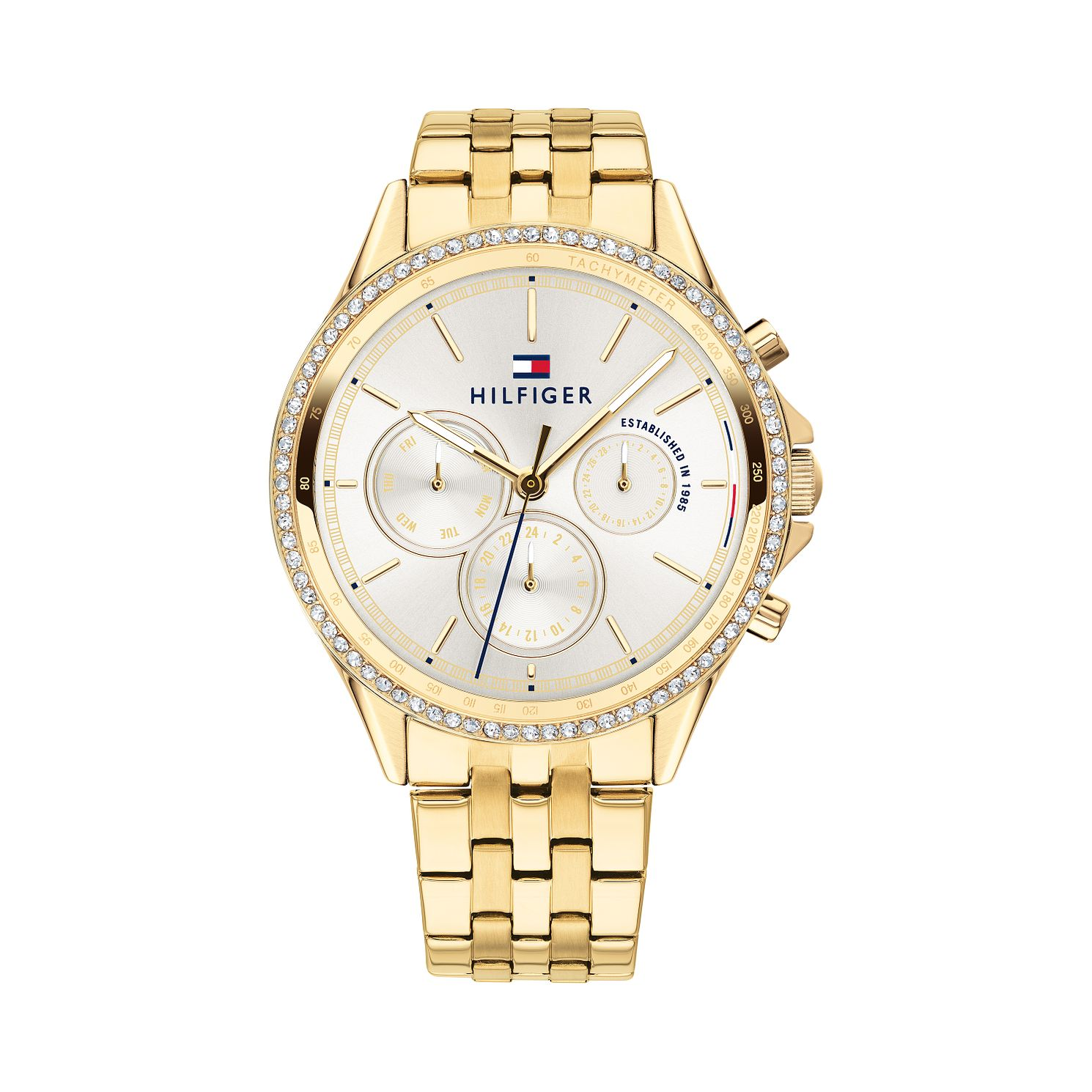 Tommy Hilfiger Ladies' Gold IP Bracelet Watch - Product number 9649980