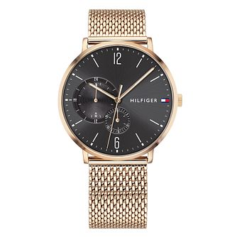 Tommy Hilfiger Men's Rose Gold Mesh Bracelet Watch - Product number 9650040