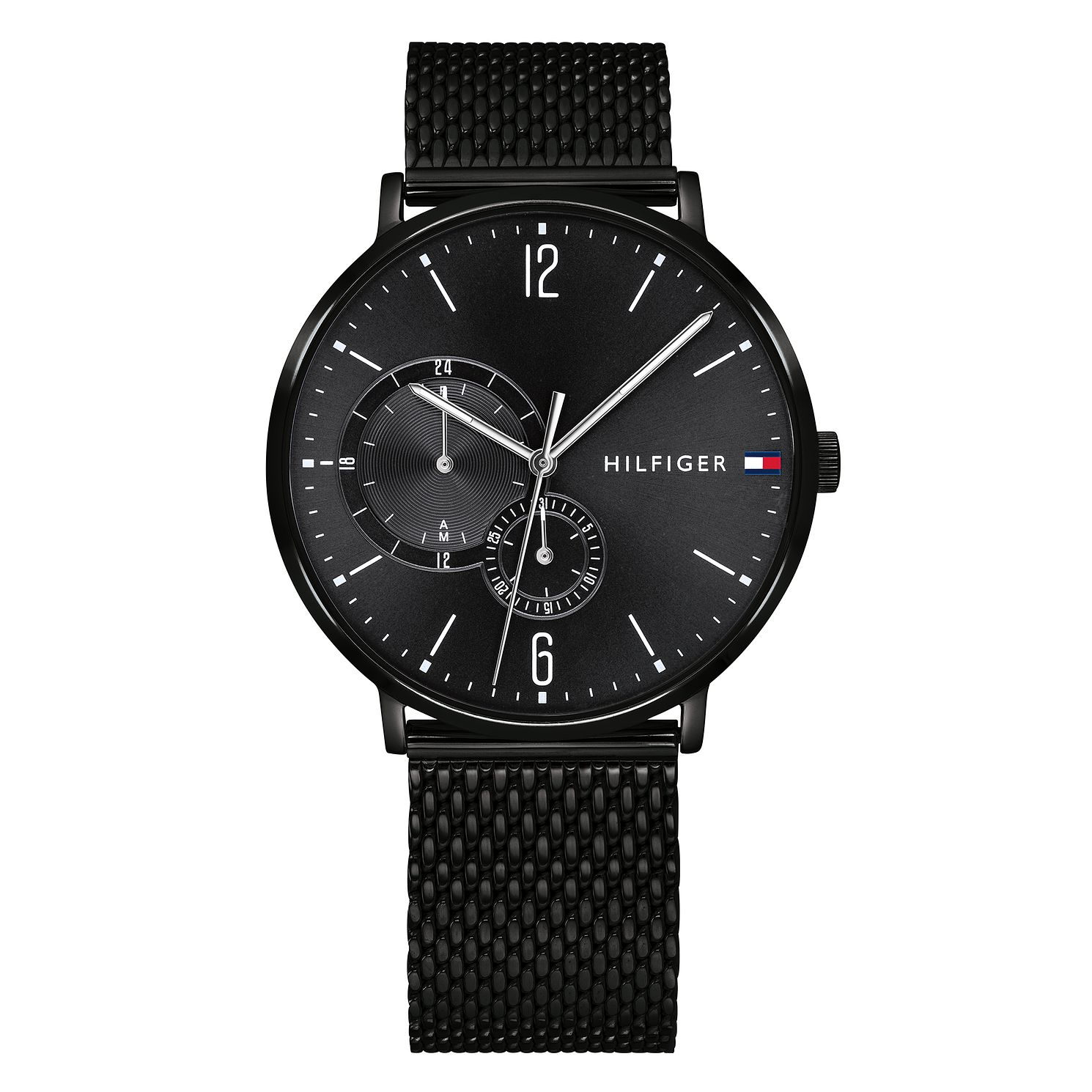 Tommy Hilfiger Black Stainless Steel Mesh Bracelet Watch - Product number 9650059
