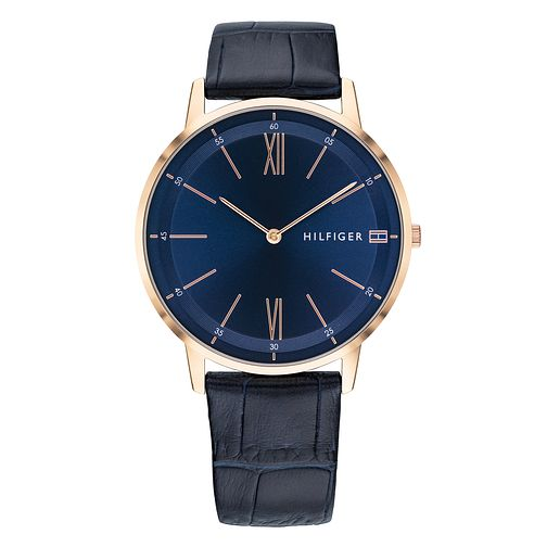 Tommy Hilfiger Blue Leather Strap Watch - Product number 9650091