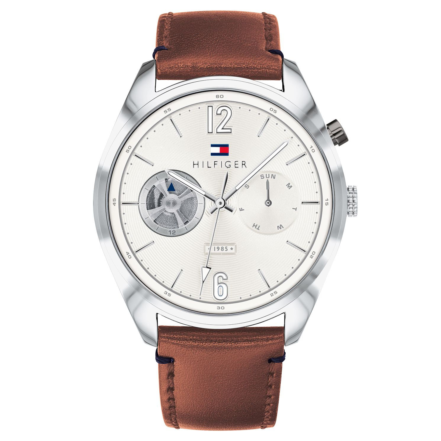 Tommy Hilfiger Descon Men's Brown Leather Strap Watch - Product number 9650156