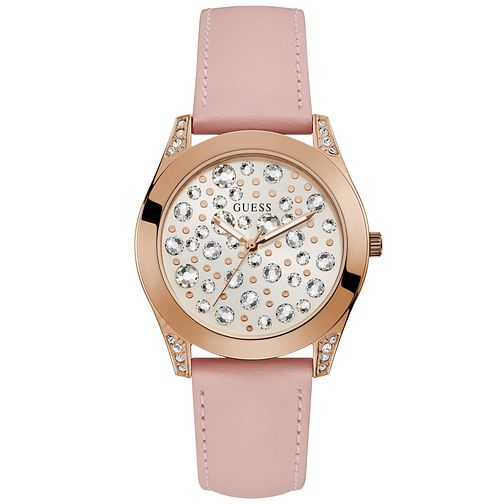 Guess Ladies' Rose Gold Plated Bracelet Watch - Product number 9654100