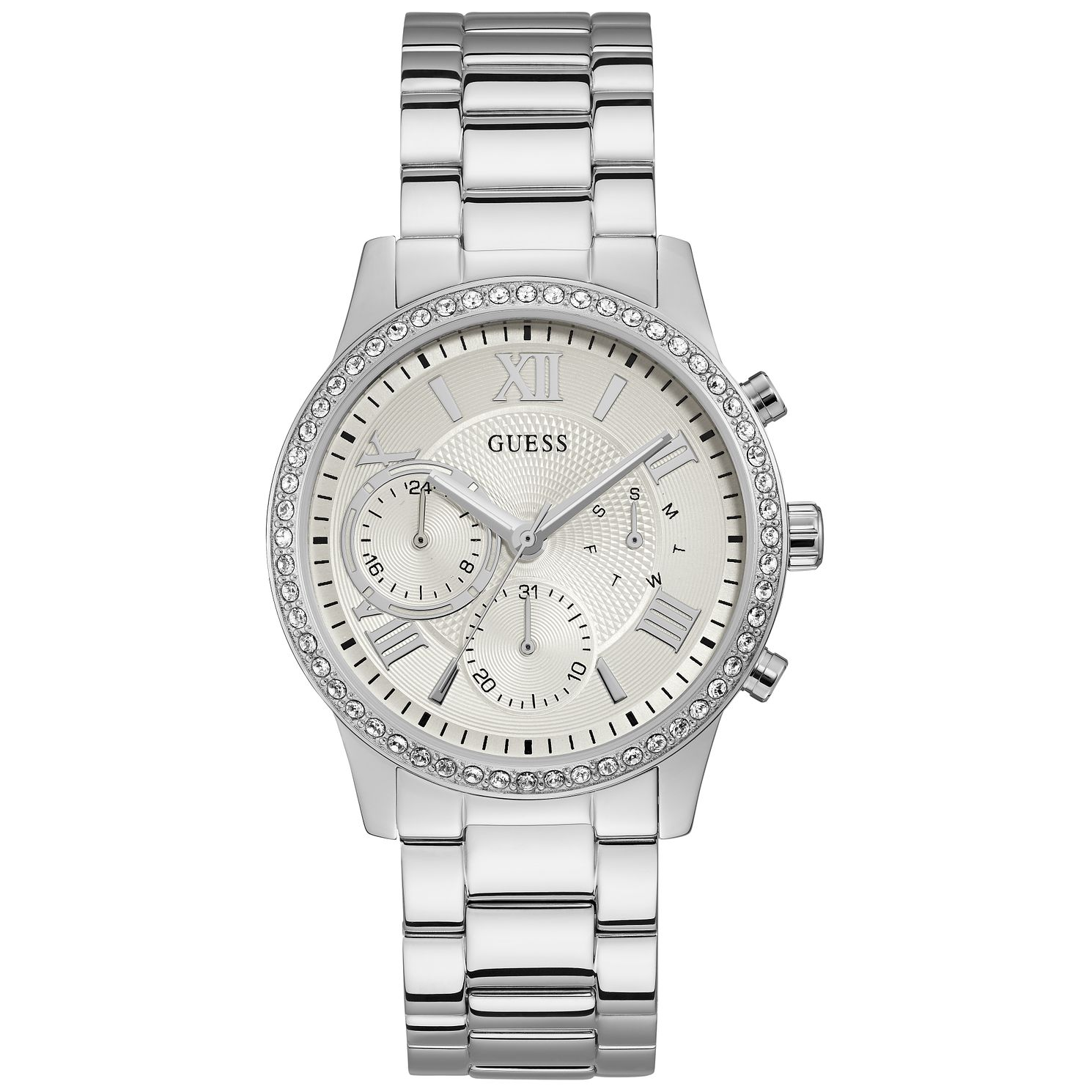 Guess Ladies' Crystal Stainless Steel Bracelet Watch - Product number 9654119