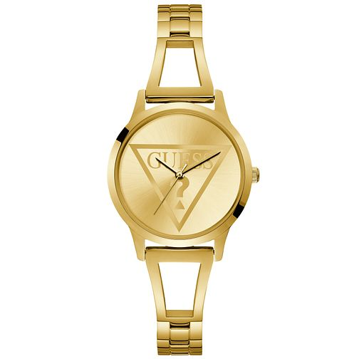 Guess Ladies' Yellow Gold Tone Cut-Out Bracelet Watch - Product number 9654240