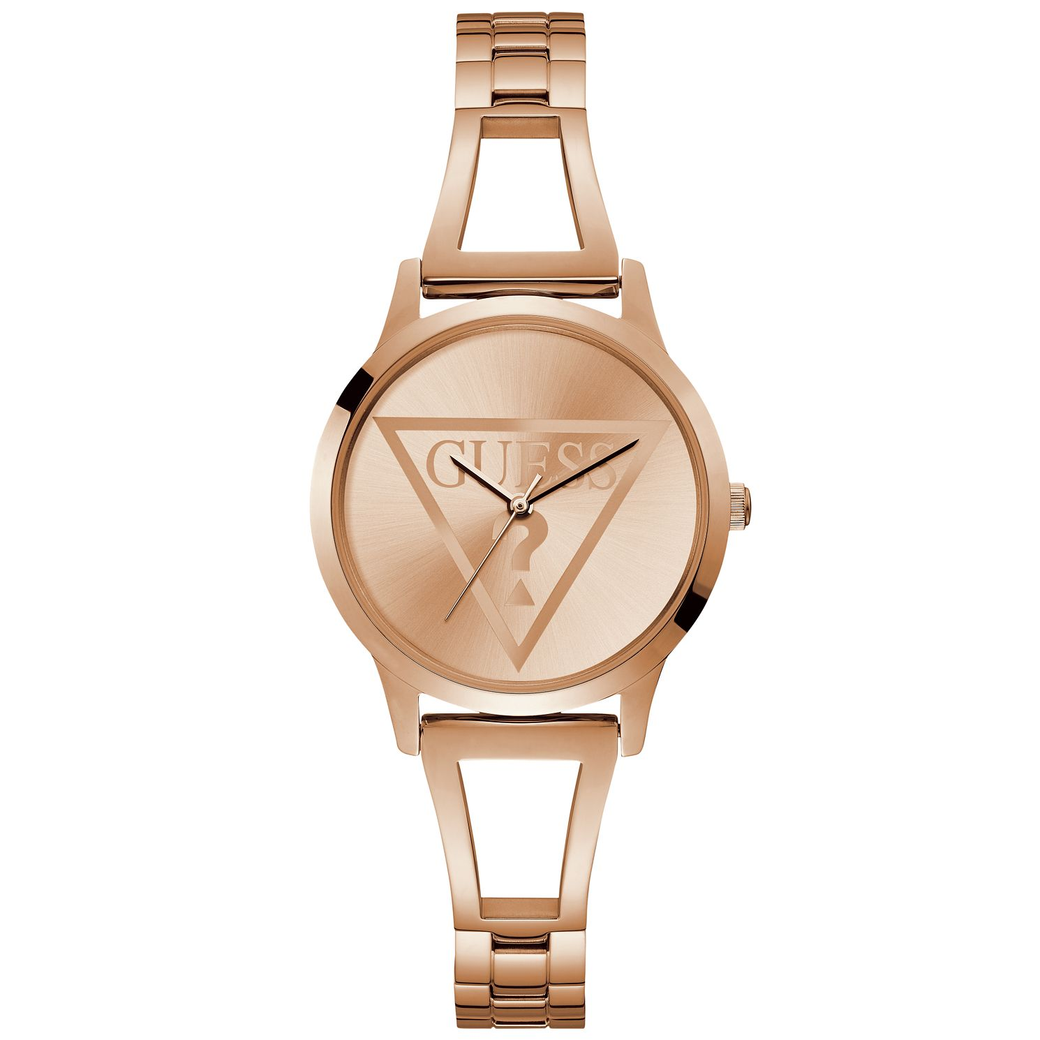 Guess Ladies' Rose Gold Tone Cut-Out Bracelet Watch - Product number 9654259