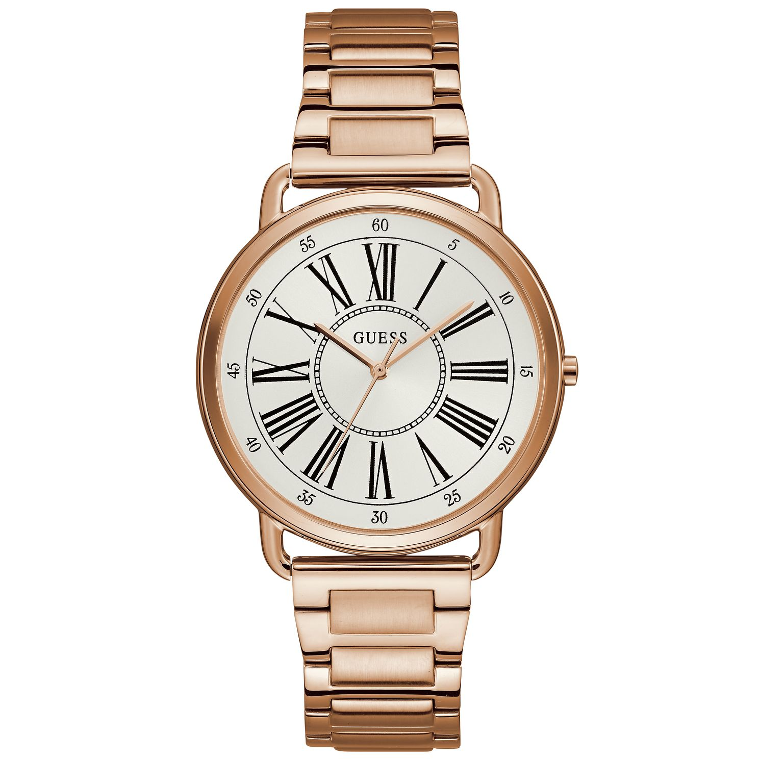 Guess Ladies' Rose Gold Tone Bracelet Watch - Product number 9654771