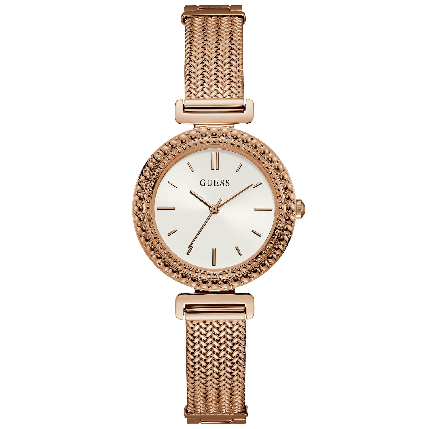 Guess Ladies' Rose Gold Tone Mesh Bracelet Watch - Product number 9654801