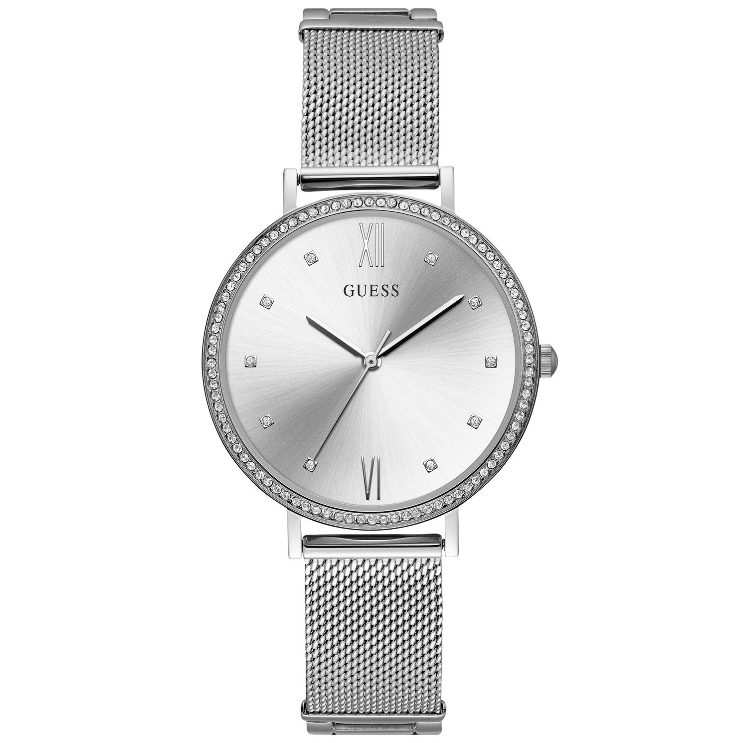 Guess Glitz Ladies' Stainless Steel Mesh Bracelet Watch - Product number 9654852