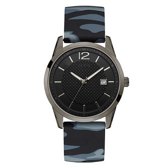 Guess Men's Black Dial Camo Strap Gunmental Watch - Product number 9655131