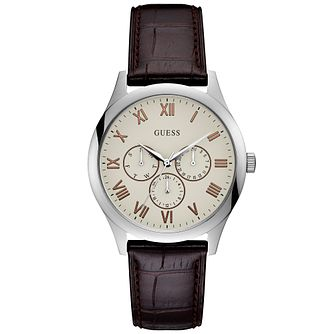 Guess Men's White Dial Silver Watch - Product number 9655336