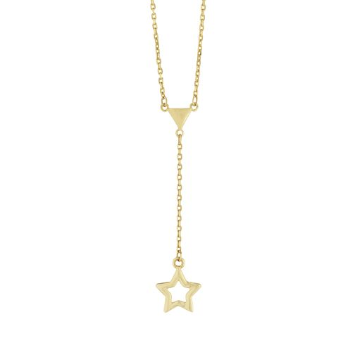 9ct Yellow Gold Star Lariat Necklace - Product number 9660151