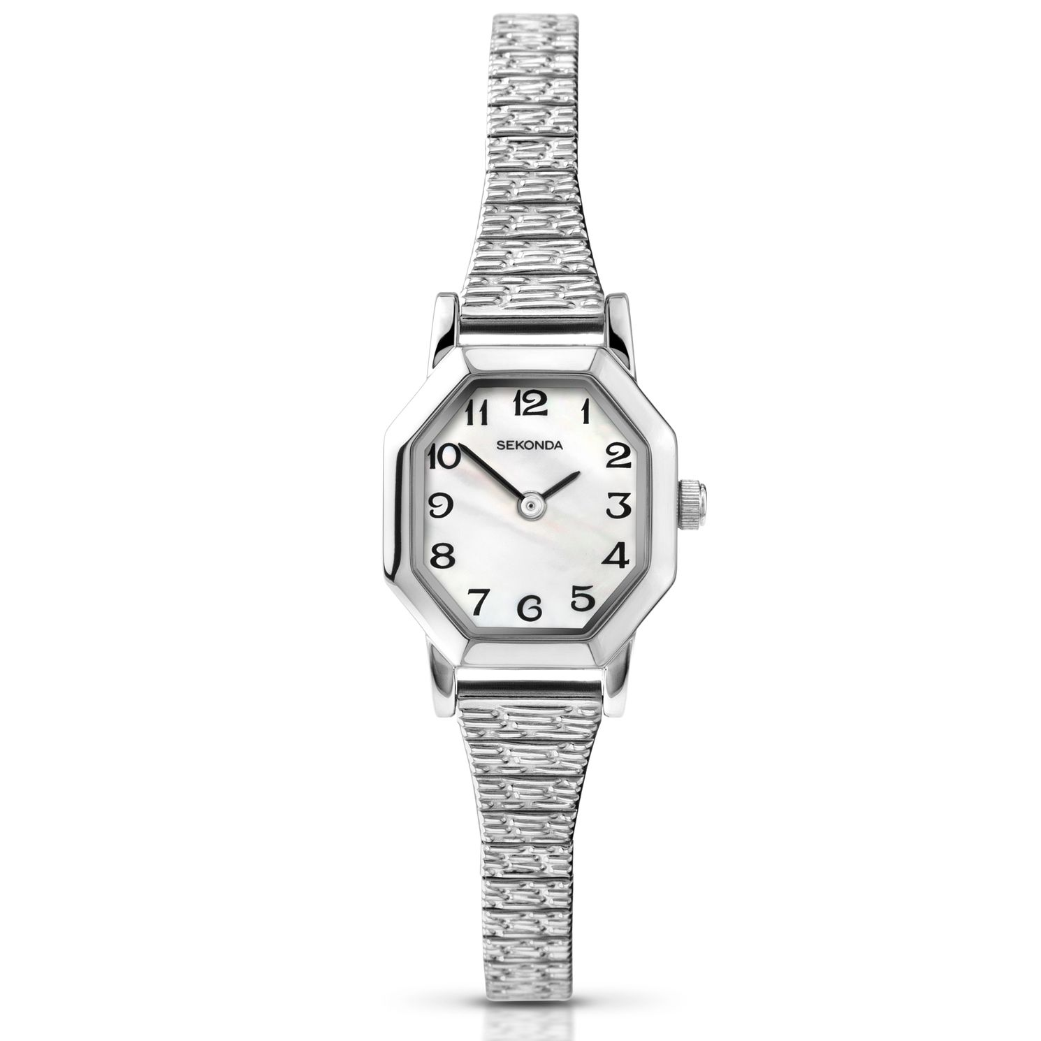 Sekonda Ladies' White Gold Plated Bracelet Watch - Product number 9660402