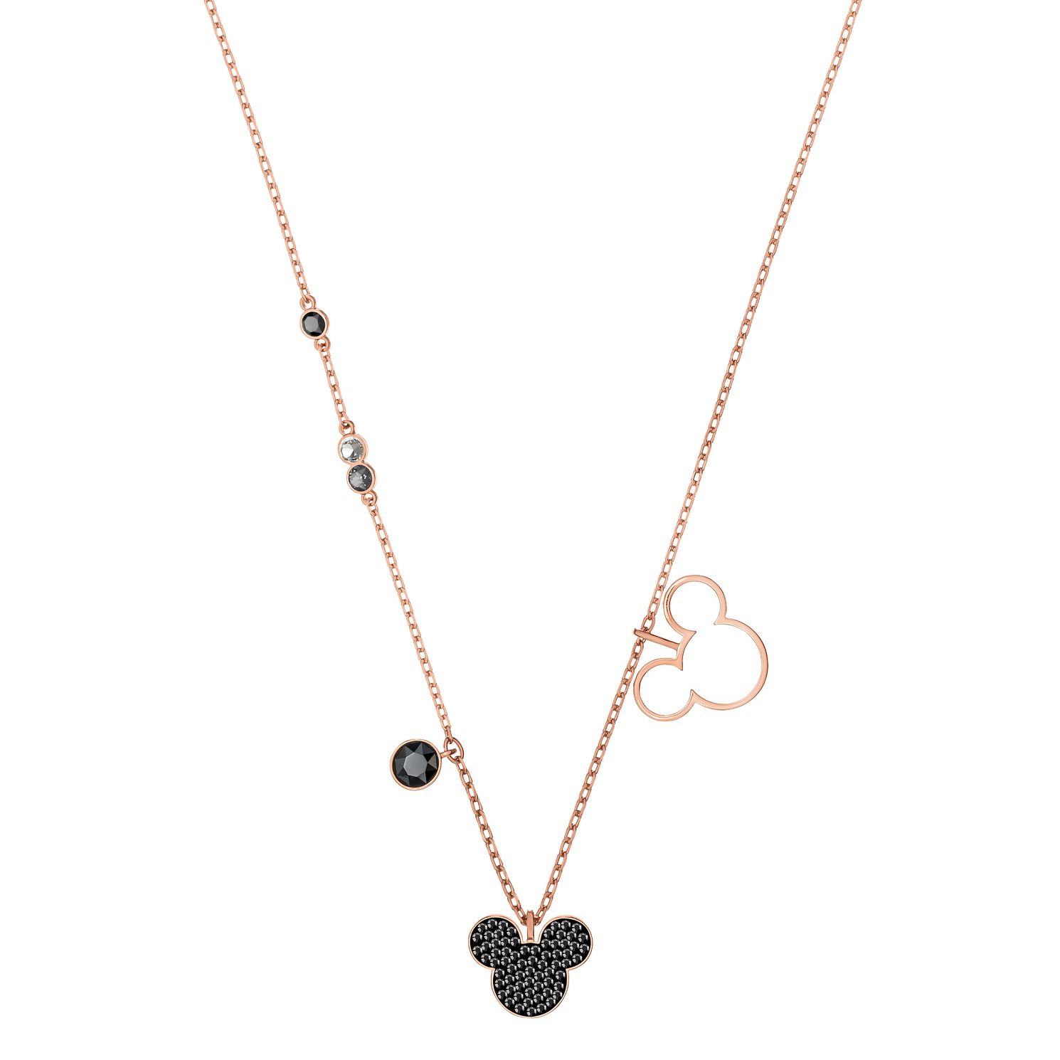 Swarvoski Ladies' Rose Gold Plated Mickey Mouse Necklace - Product number 9661069