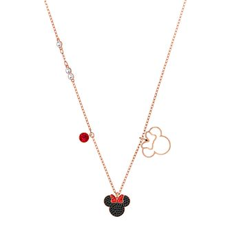Swarvoski Ladies' Rose Gold Plated Minnie Mouse Necklace - Product number 9661077