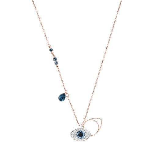 Swarvoski Ladies' Rose Gold Tone Duo Evil Eye Necklace - Product number 9661085
