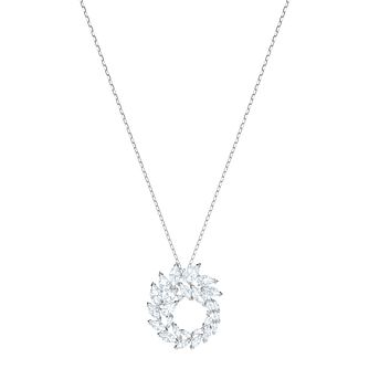 Swarvoski Ladies Rhodium Plated Louison Circle Pendant - Product number 9662111
