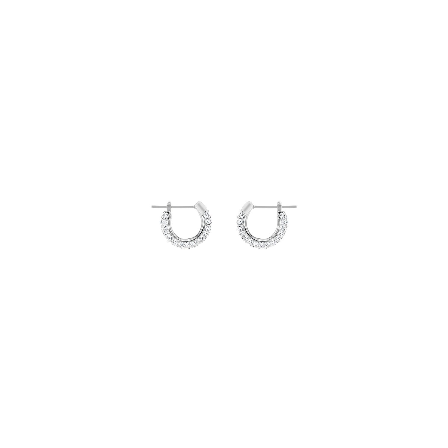 Swarvoski Rhodium Stone Hoop Earring - Product number 9662383
