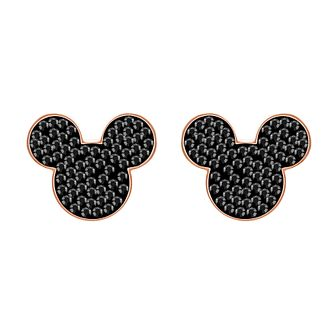 Swarvoski Ladies' Rose Gold Tone Mickey Mouse Stud Earrings - Product number 9662464