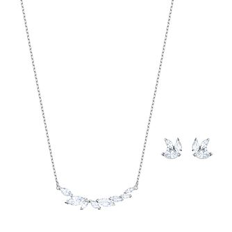 Swarovski Ladies' Rhodium Plated Louison Earring & Necklace - Product number 9662480