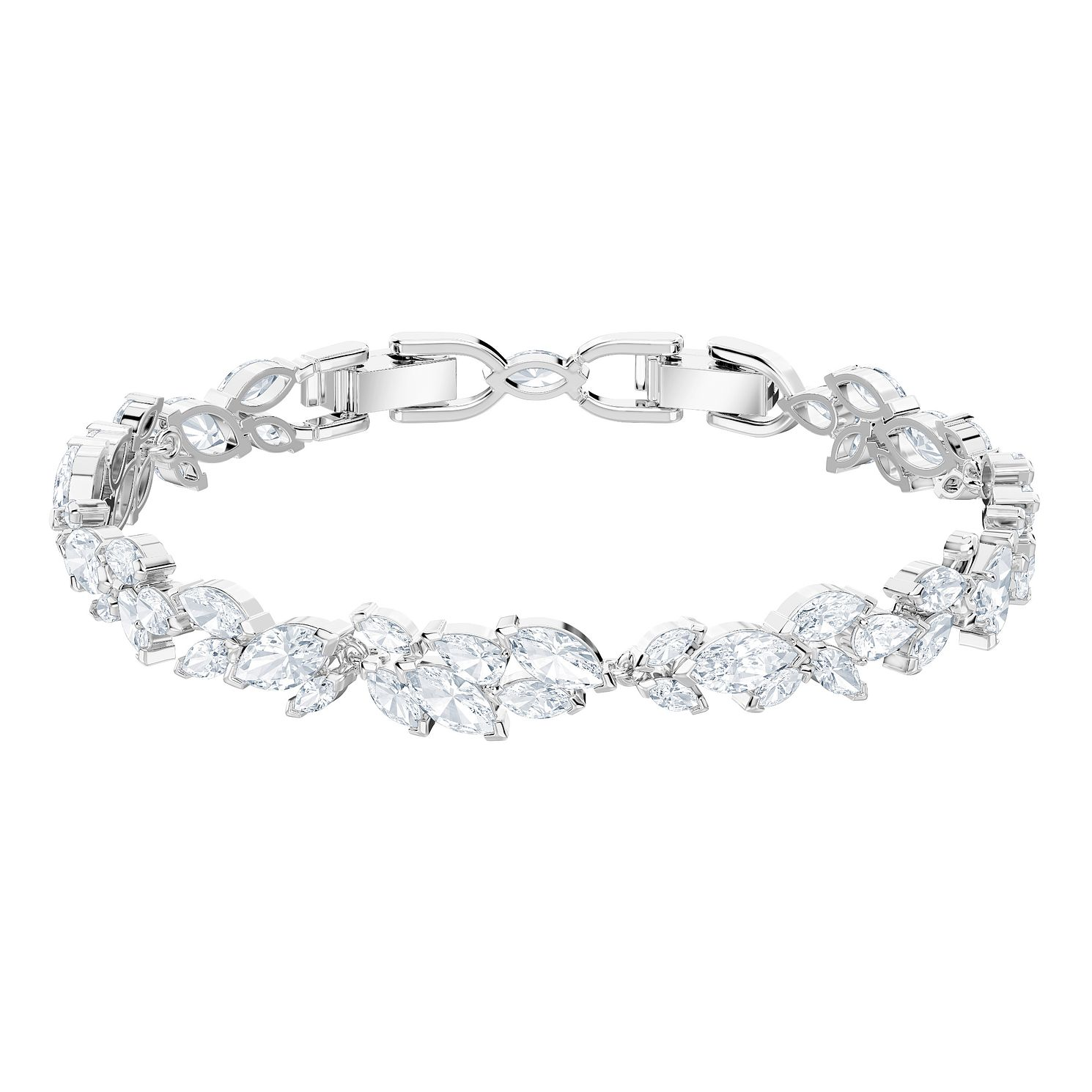 Swarovski Ladies' Rhodium Plated Louison Bracelet - Product number 9662634