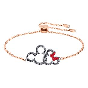 Swarvoski Ladies' Rose Gold Plated Minnie Mouse Bracelet - Product number 9662642