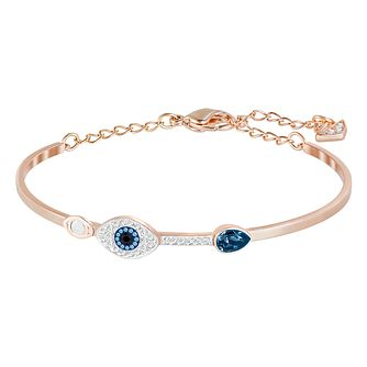 Swarvoski Ladies' Rose Gold Tone Duo Evil Eye Bracelet - Product number 9662650