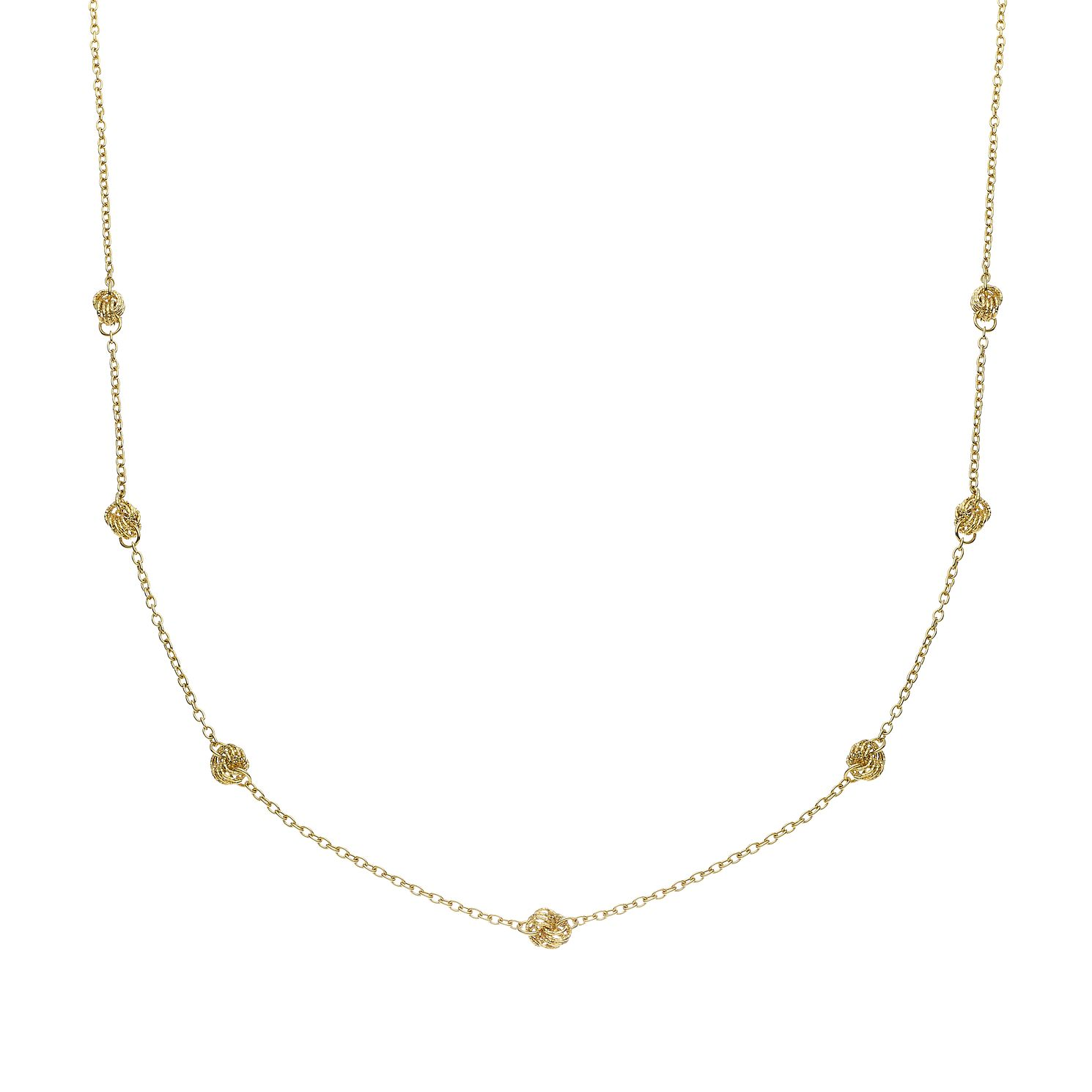 9ct Yellow Gold Knot Necklace - Product number 9663134