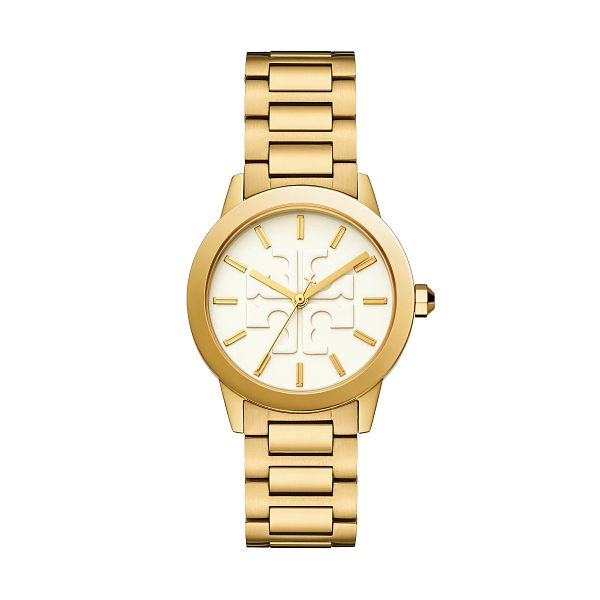 Tory Burch The Gigi Ladies' Yellow Gold Tone Bracelet Watch - Product number 9663622