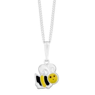 Children's Silver Enamel Bee Pendant - Product number 9664483