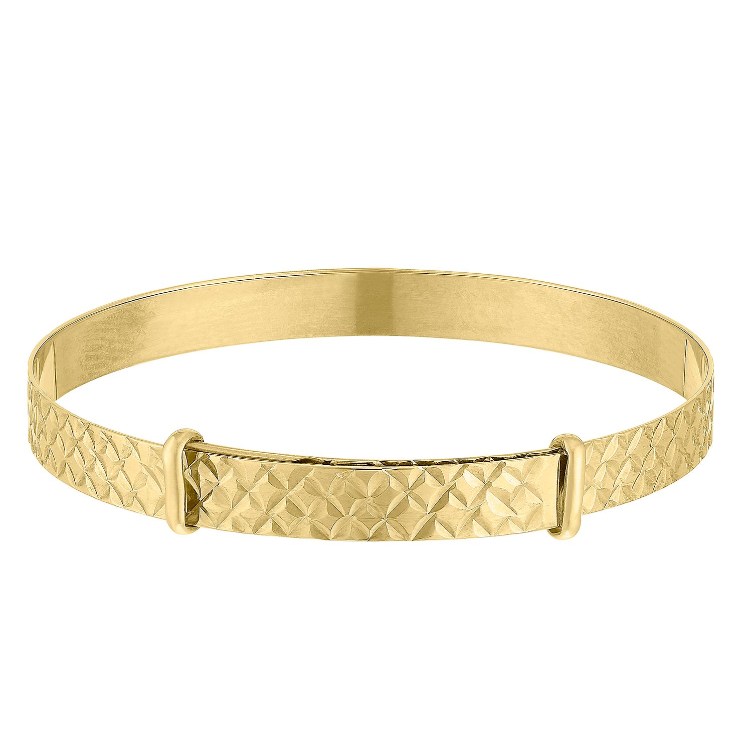 Children's 9ct Yellow Gold Patterned Expandable Bangle - Product number 9665153