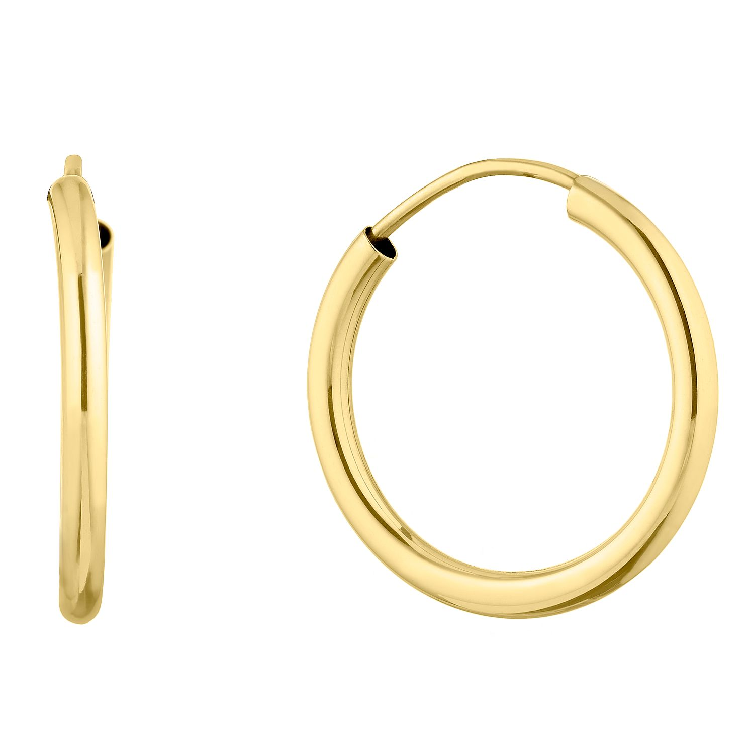 9ct Yellow Gold 16mm Sleeper Earrings - Product number 9665439