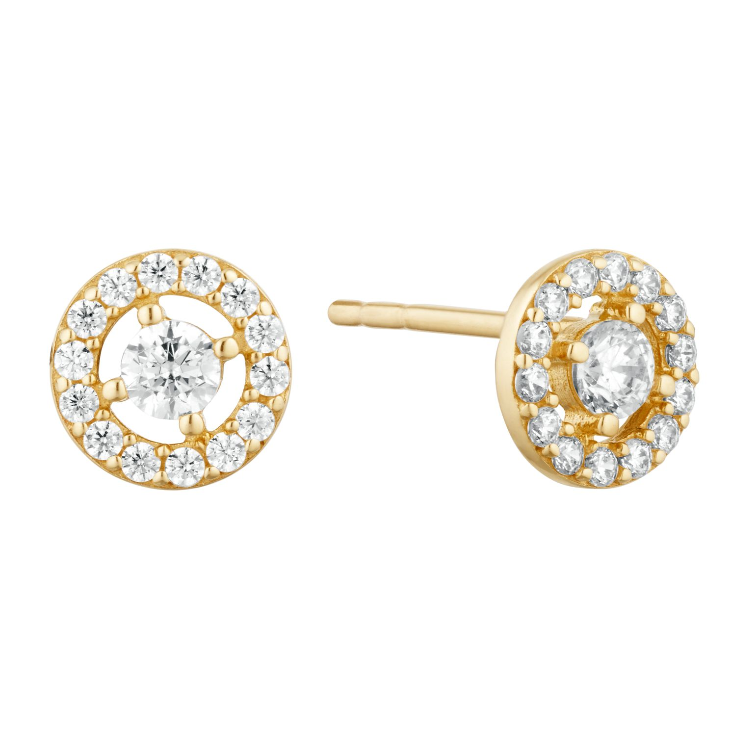 9ct Yellow Gold Cubic Zirconia Round Studs - Product number 9665528