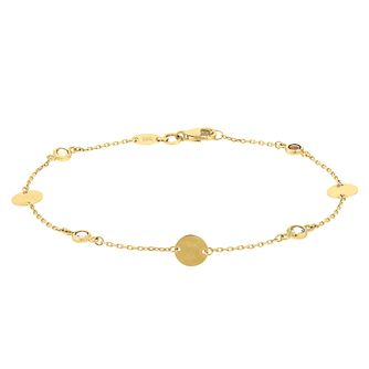 9ct Yellow Gold Multi Disc Bracelet - Product number 9665730