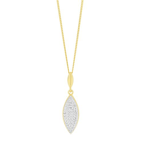 Evoke Yellow Gold Plated Crystal Marquese Pendant - Product number 9666117