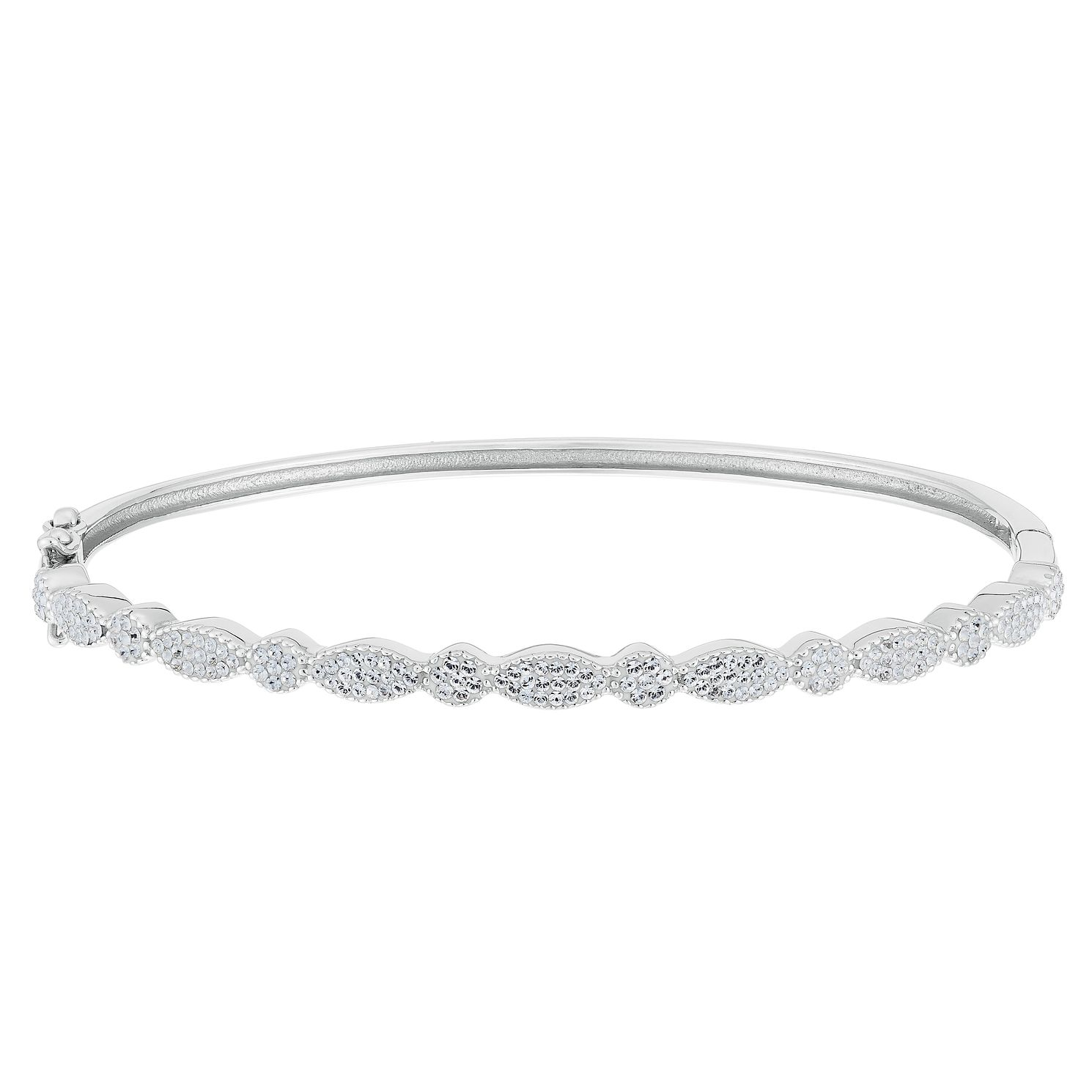 Evoke Silver Crystal Hinge Bangle - Product number 9666192