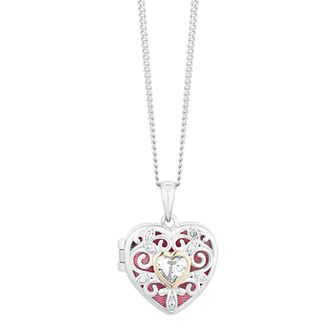 9ct Yellow Gold & Silver Heart Locket - Product number 9666354