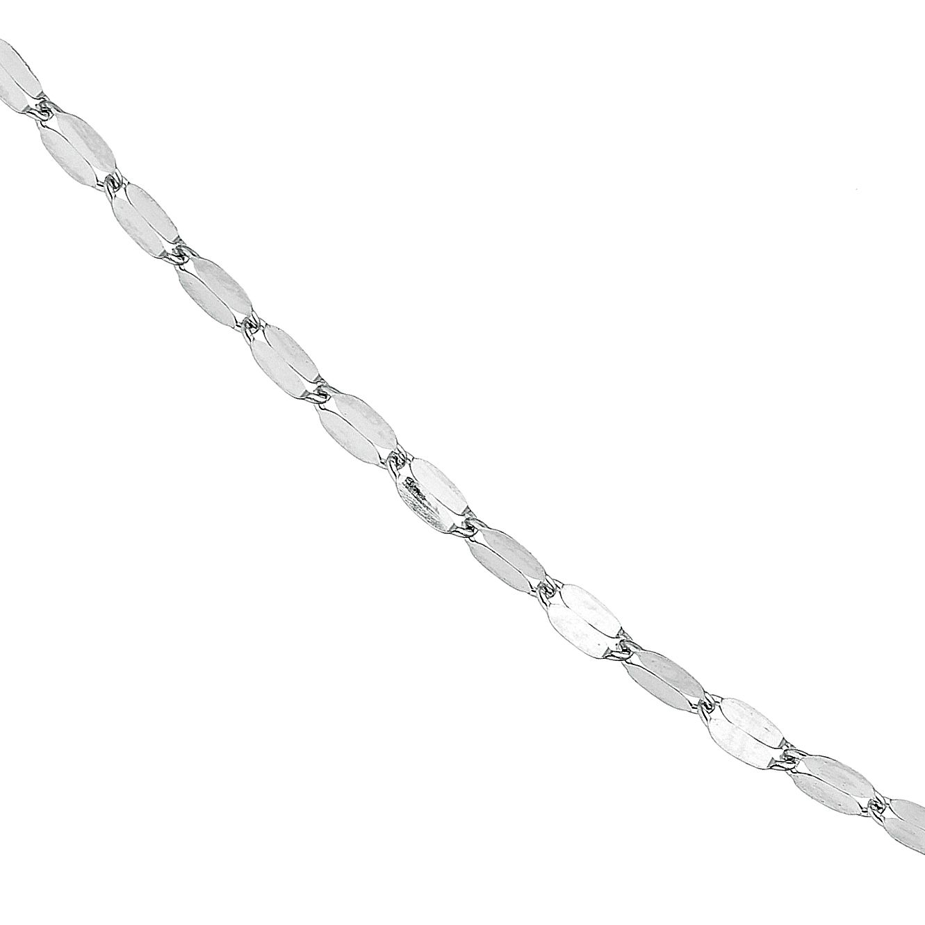 9ct White Gold Fancy Disc Chain Necklace - Product number 9668381