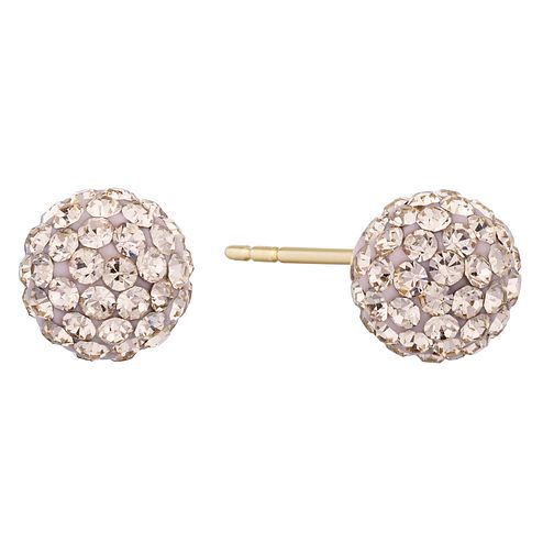 9ct Yellow Gold Crystal Stud Earrings - Product number 9668543