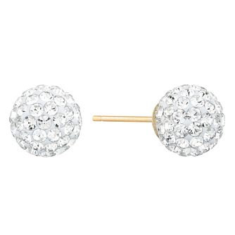 9ct Yellow Gold Crystal Ball Stud Earrings - Product number 9668551
