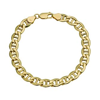 "Together Silver & 9ct Bonded Gold Anchor 8"" Bracelet - Product number 9684131"