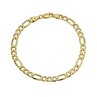 Together Silver & 9ct Bonded Gold Figaro Bracelet - Product number 9684204