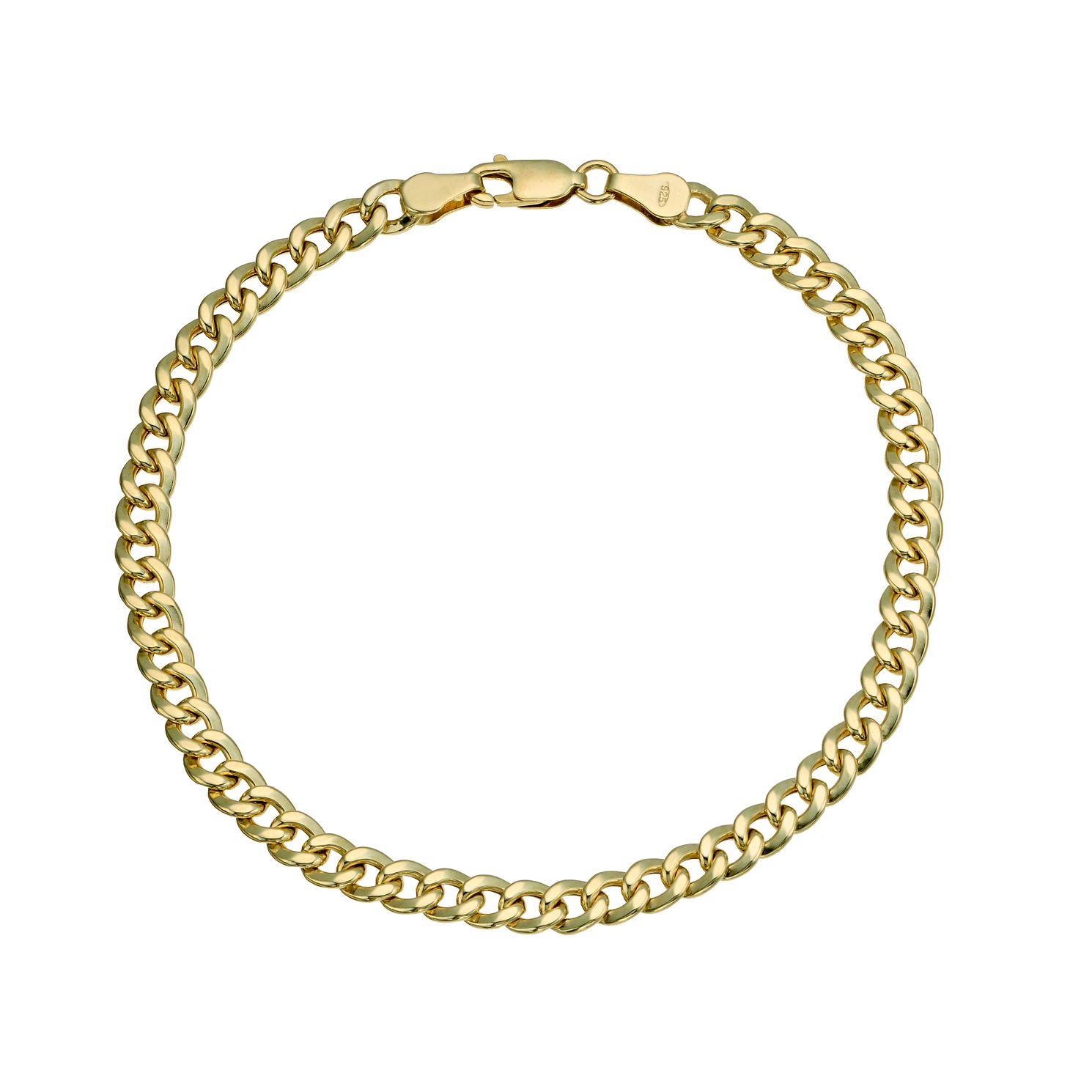 Together Silver 9ct Bonded Gold 8 Inch Curb Chain Bracelet H Samuel