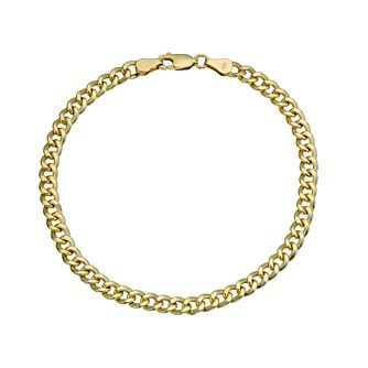Together Silver & 9ct Bonded Gold Curb 8 inches Bracelet - Product number 9684212